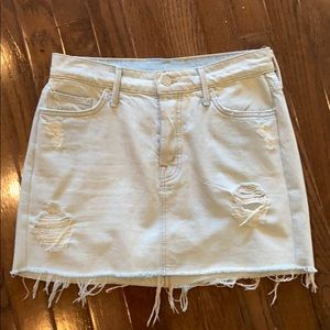Mother A-line Ripped Denim Skirt Size 27